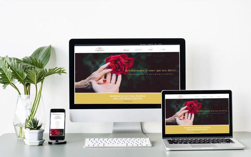 web de casa de reposo plaza suiza-angel ortiz