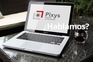 portatil con logo de pixys